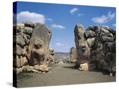 Turkey, Hattusa, the Lions' Gate--Stretched Canvas Print