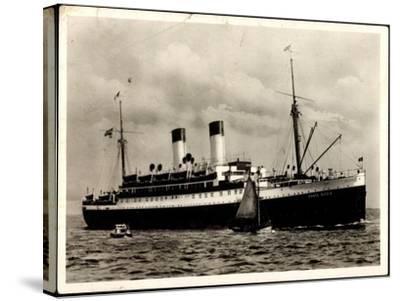 Dampfer Monte Olivia Der HSDG, Segelboot, Beiboot--Stretched Canvas Print