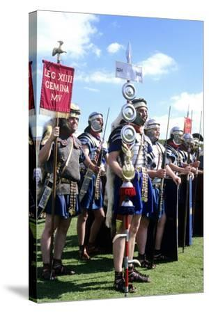Roman Army, 14th Legion in Britain, Historical Re-Enactment--Stretched Canvas Print