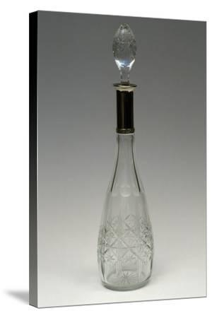 Cut Crystal Bottle with Drop-Shaped Top, Ca 1915, Italy--Stretched Canvas Print