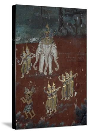 Cambodia, Phnom Penhs in Silver Pagoda--Stretched Canvas Print