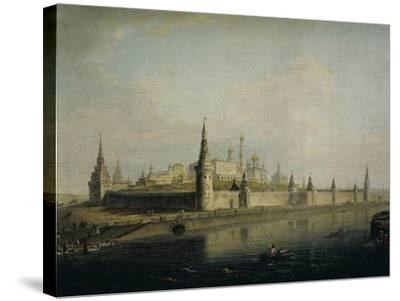 Russia, Moscow, View of the Kremlin from the Kamennyj Most, 1819--Stretched Canvas Print