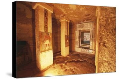 Pillared Chamber at Tomb of Sarenput II--Stretched Canvas Print