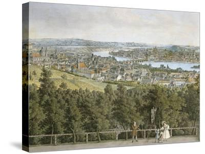 Czech Republic, Prague Painting of Cityscape--Stretched Canvas Print