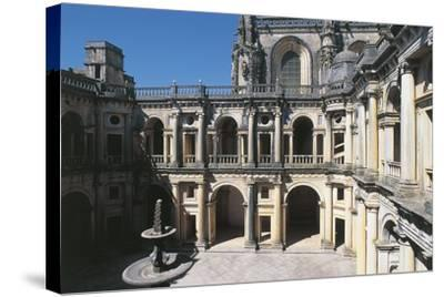 Portugal, Tomar, Convent of Order of Christ, Cloister--Stretched Canvas Print