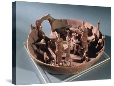 Clay Manufacture Representing Sacred Pit, from Vounous--Stretched Canvas Print