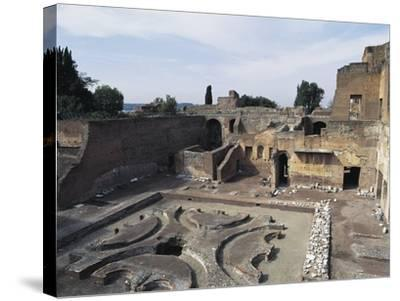 Italy, Latium Region, Rome, Palace of Domitian on Palatine Hill--Stretched Canvas Print