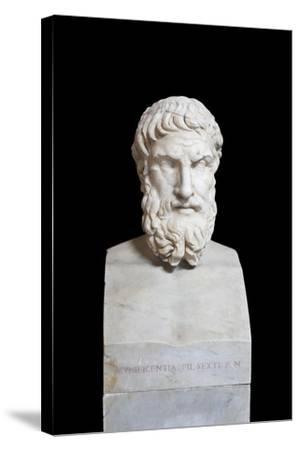 Portrait of Epicurus, Second Century Ad, Vatican Museums, Rome, Italy--Stretched Canvas Print
