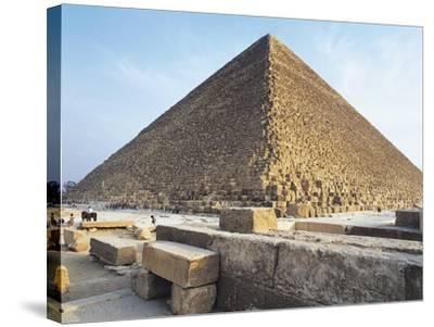 Egypt, Giza, Giza Pyramids, Kheops Pyramid and Tombs of Princes.--Stretched Canvas Print