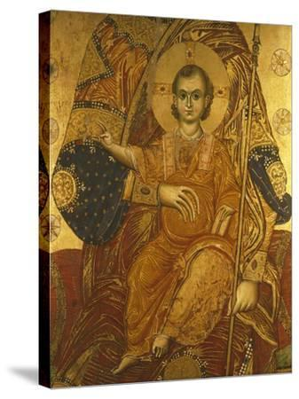 The Child Jesus, Detail from the Panel of Santa Maria De Flumine, 13th Century--Stretched Canvas Print