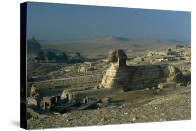 Egypt, Cairo, Giza, Great Sphinx--Stretched Canvas Print