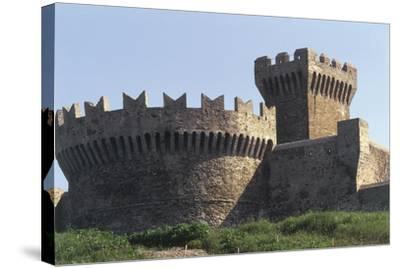 Italy, Tuscany Region, Maremma, Fortress of Populonia--Stretched Canvas Print