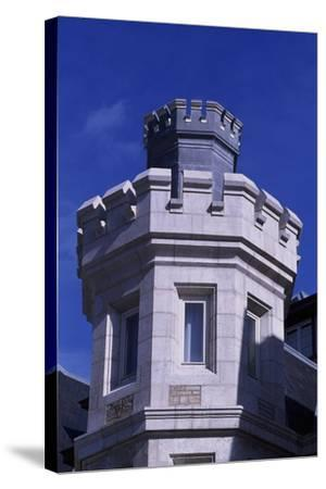 Spain, Cantabria, Santander, Magdalena Royal Palace, Tower--Stretched Canvas Print