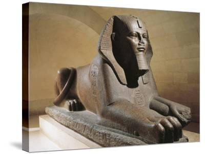 Great Sphinx of Tanis, Pink Granite--Stretched Canvas Print