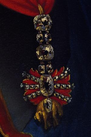 Order of Golden Fleece, Spanish and Austrian Honour, Detail from Painting--Stretched Canvas Print