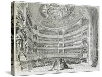 France, Paris, Theatre Du Vaudeville, Theatre House, View from Stage--Stretched Canvas Print