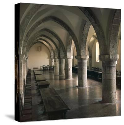 View of Refectory of Cistercian Casamari Abbey--Stretched Canvas Print