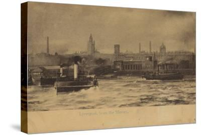 Liverpool, from the Mersey-English Photographer-Stretched Canvas Print