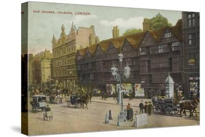 Old Houses, Holborn, London--Stretched Canvas Print