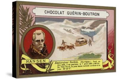Fridtjof Nansen, Norwegian Arctic Explorer-French School-Stretched Canvas Print