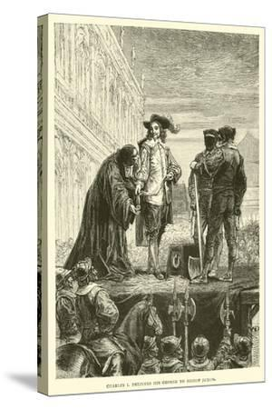 Charles I Delivers His George to Bishop Juxon--Stretched Canvas Print