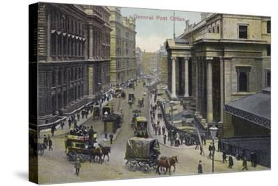 General Post Office, London--Stretched Canvas Print