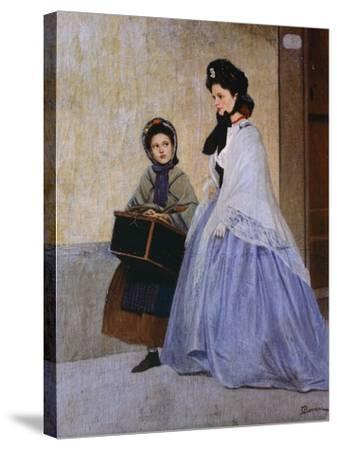 The Milliner-Odoardo Borrani-Stretched Canvas Print