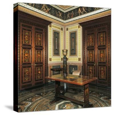 Etruscan Cabinet with Works-Pelagio Palagi-Stretched Canvas Print