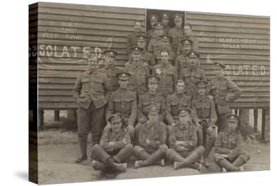 British Soldiers in Front of a Barracks--Stretched Canvas Print