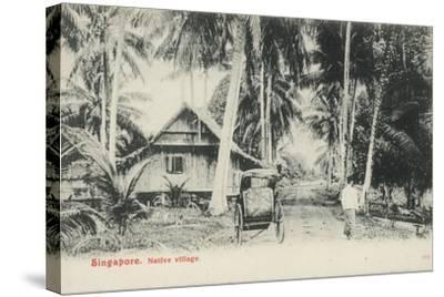 Native Village, Singapore--Stretched Canvas Print