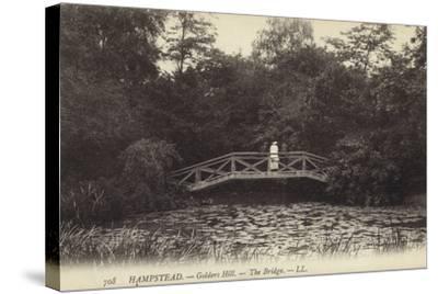 Hampstead, Golders Hill, the Bridge--Stretched Canvas Print