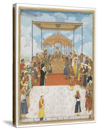 Durbar of Akbar Ii, C.1811-15-Ghulam Murtaza Khan-Stretched Canvas Print