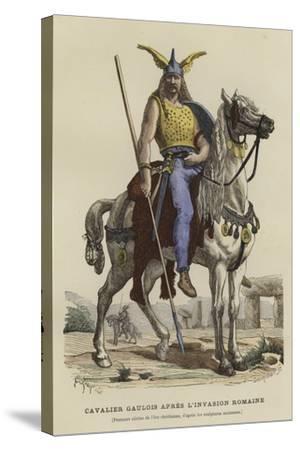 Gaulish Cavalryman after the Roman Invasion--Stretched Canvas Print