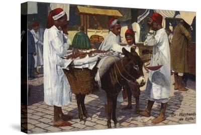 Fruit Seller, Tangier--Stretched Canvas Print