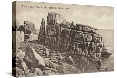 The Tooth Rock, St Mary'S, Scilly Isles--Stretched Canvas Print