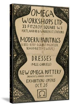 Graphic Advert for the Omega Workshops, 1920--Stretched Canvas Print