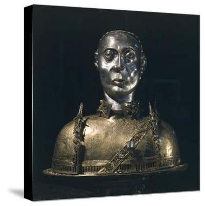 Silver Bust Reliquary of Saint Bernard from Aosta, 1424--Stretched Canvas Print