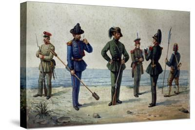 Uniforms of the 1848 Legions--Stretched Canvas Print