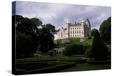 A View from Gardens of Dunrobin Castle, Near Golspie, Sutherland, Scotland, 14th-19th Century--Stretched Canvas Print