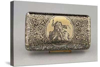 Silver Cigar Case, 1870-80--Stretched Canvas Print