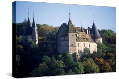 Chateau De La Rochepot, Burgundy, France, 13th-19th Century--Stretched Canvas Print