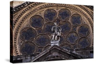 Rosette Above Door of Clock of Primate Cathedral of St Mary, Toledo, Castile-La Mancha, Detail--Stretched Canvas Print