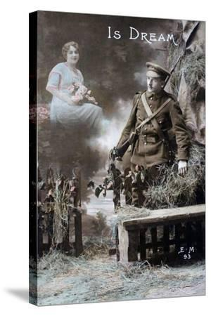 His Dream, 1915--Stretched Canvas Print