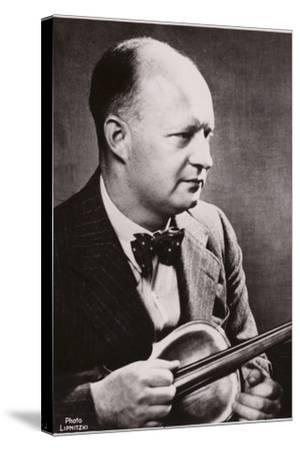 Portrait of Paul Hindemith--Stretched Canvas Print