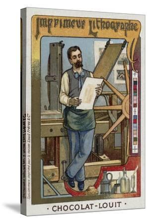 Lithograph Printer--Stretched Canvas Print