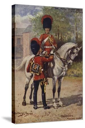The Royal Scots Greys-Henry Payne-Stretched Canvas Print