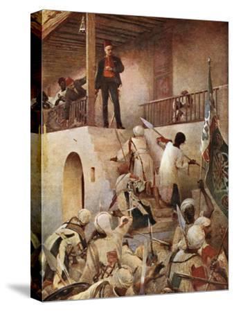 The Death of General Gordon-George William Joy-Stretched Canvas Print