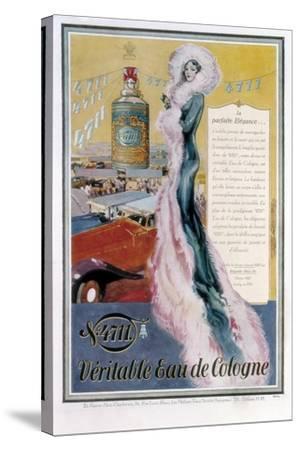Advertisement for '4711' Eau De Cologne, 1931--Stretched Canvas Print