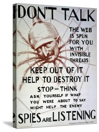 """""""Don't Talk"""", C.1918--Stretched Canvas Print"""