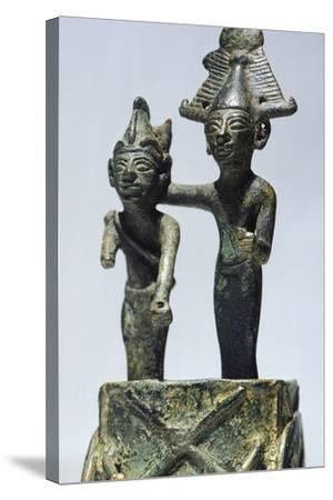 Two Figures on Cart, Bronze Artifact from Tortosa--Stretched Canvas Print